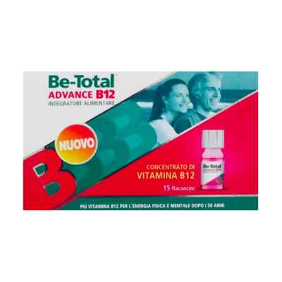 Betotal Linea Vitamine e Minerali Be Total Advance B12 Integratore 15 Flaconcini